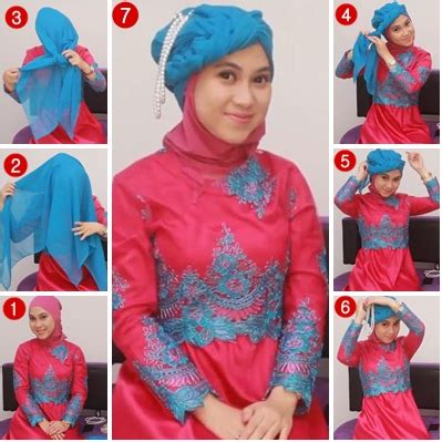 tutorial hijab pesta baju kebaya video tutorial hijab modern untuk pengantin terbaru 2015