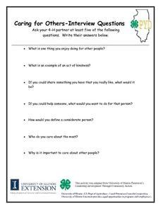 veteran biography interview questions caring for others interview questions lesson plan for