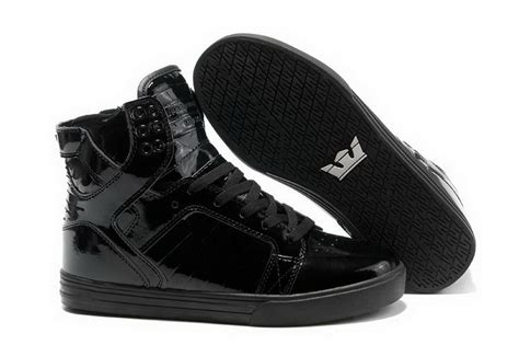 skytop high top mens skate shoes black leather shoes the
