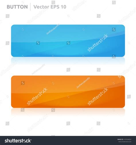 Button Template Vector Design Eps Business Banner With Symbol Icon Website Element Web Button Biz Template