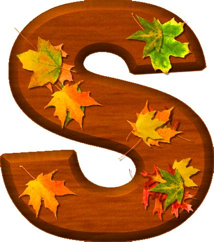 printable leaves with letters presentation alphabets cherry wood leaves letter s