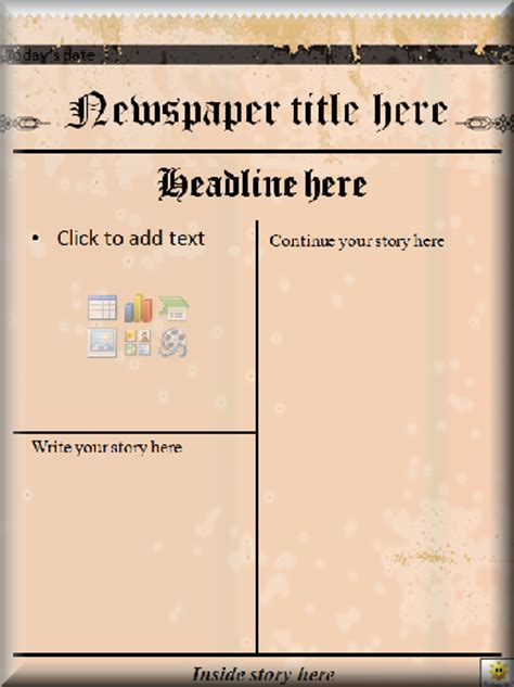 Literacy Microsoft Powerpoint Newspaper Template