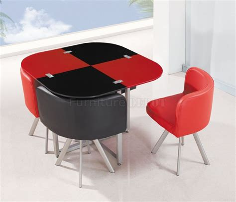 Contemporary Black Dining Room Sets by Red Dining Table And Chairs Marceladick Com