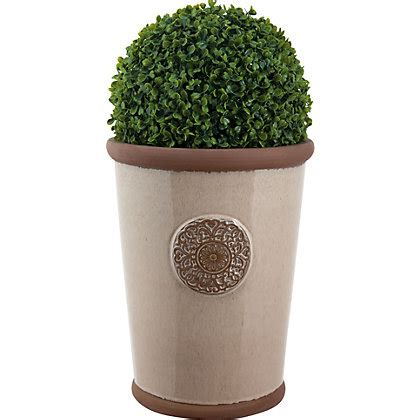 Homebase Outdoor Planters by Millicent Motif Pot Green 22cm