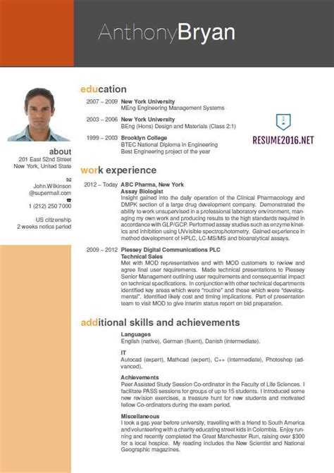 the best resume template best resume format resume cv