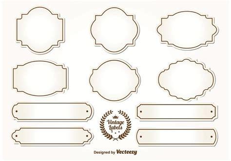 Etiketten Vorlagen Kostenlos Vintage by Blank Vintage Labels Free Vector Stock