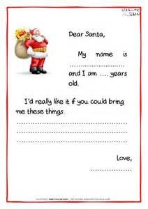 printable example santa claus short letter black amp white