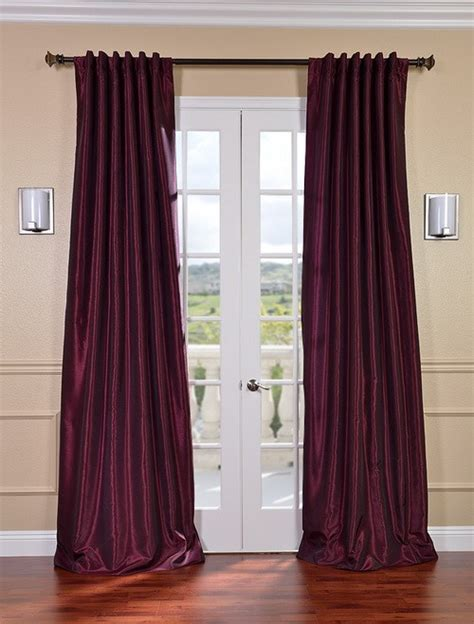 magenta curtains drapes magenta vintage textured faux dupioni silk curtains