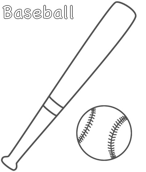 baseball bat template free baseball coloring pages getcoloringpages