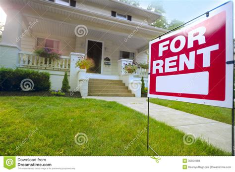 home for rent sign royalty free stock photos image 35554688