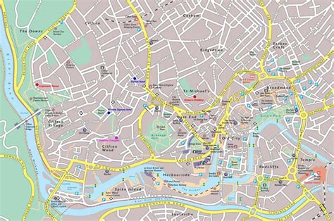 bristol carte  image satellite