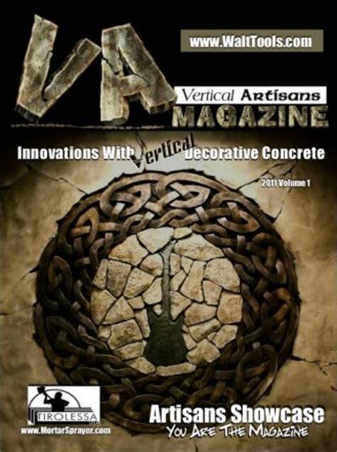 vertical artisans magazine vertical decorative concrete