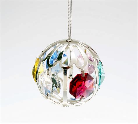 crystal ball silver ornament