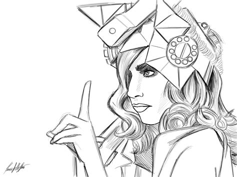 lada da disegno image detail for gaga coloring picture pretty