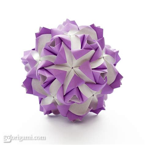 roses kusudama diagram