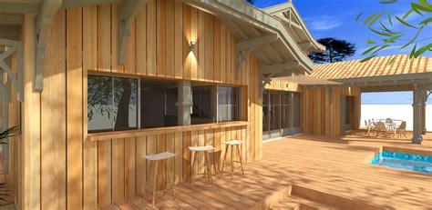 decoration de bar maison construction d une maison bois traditionnelle avec studio