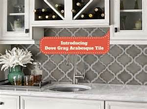 How To Install A Tile Backsplash In Kitchen Introducing Dove Gray Arabesque Tile Home Art Tile