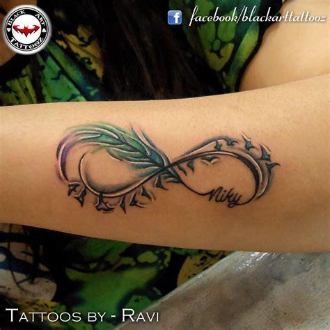 infinity tattoos with birds hakuna matata instead of the birds tat tat tat it up