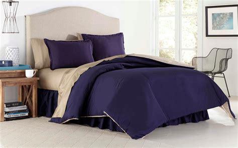 khaki bedding cannon solid reversible comforter navy khaki home