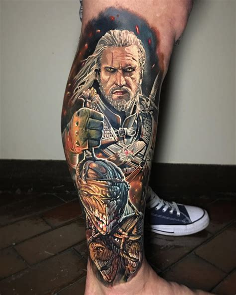 witcher tattoo witcher by ben kaye