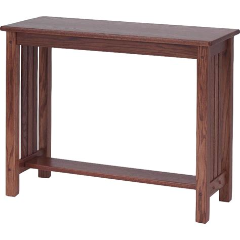 furniture sofa table mission style solid oak sofa table 39 quot the oak