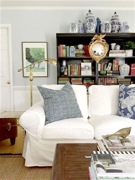 white slipcovered sofa ikea ikea ektorp sofas for our living room emily a clark