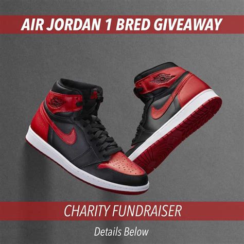 Air Jordan Giveaway - air jordan 1 retro high og quot bred quot charity giveaway lapstoneandhammer com