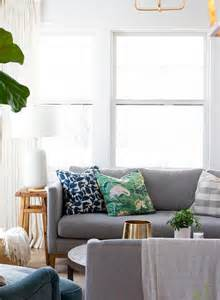 blue and gray sofa pillows gray sofa with green and blue pillows transitional