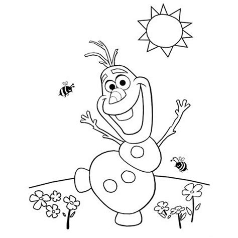 olaf the snowman coloring pages