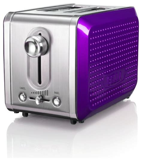 Purple Toaster Oven 13744 Dots Collection 2 Slice Toaster Purple