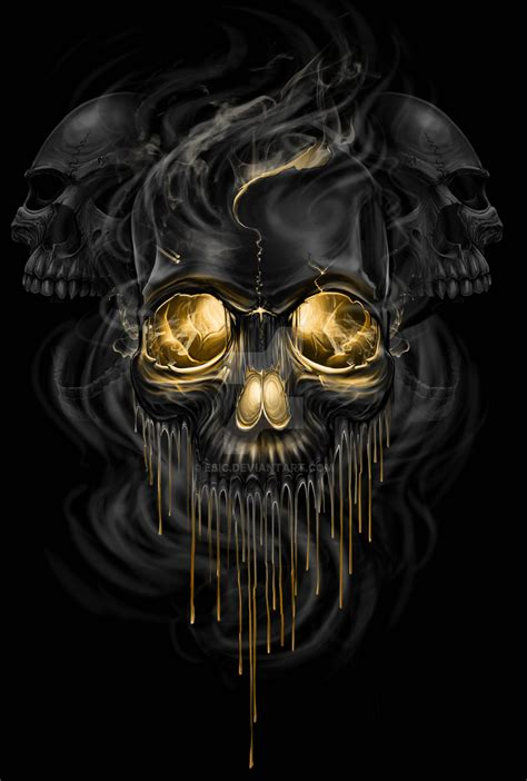 skull melt by esic on deviantart