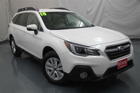 subaru outback 2018 white 2018 subaru outback 2 5i premium w eyesight stock