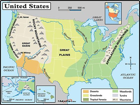 Physical Map Of The United States Great Plains | great plains location images