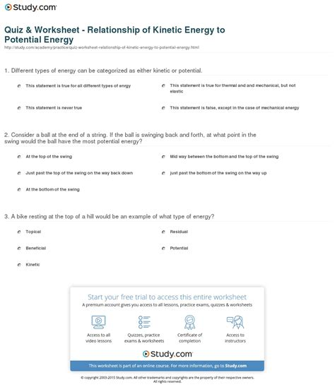 kinetic vs potential energy worksheet worksheets potential and kinetic energy worksheets chicochino worksheets and printables