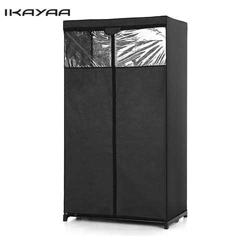 hanging cabinet for clothes ikayaa us uk stock clothes folding wardrobe cabinet