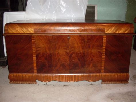 art deco bedroom furniture waterfall dresser chest vintage vintage art deco waterfall lane cedar hope chest 1940 s ebay