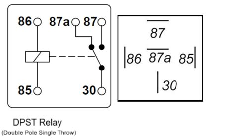 dpst relay diagram 18 wiring diagram images wiring