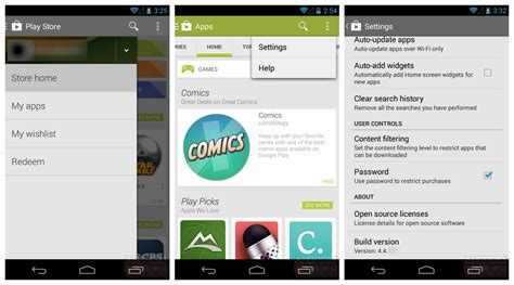 android play store new play store 4 4 leaked currently being tested on android 4 4 kitkat