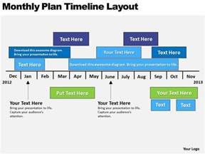 business powerpoint examples plan timeline layout