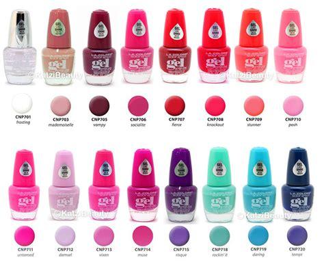 la colors 6 la colors shine gel nail any 6