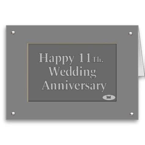 Happy 11Th. Wedding Anniversary Steel Card   Zazzle.com