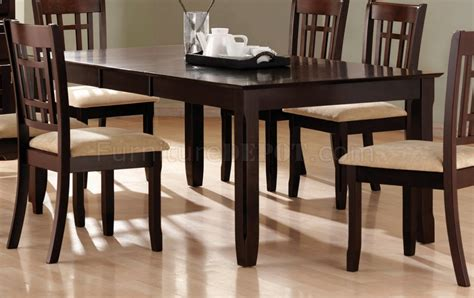 cappuccino finish casual dining room table w options