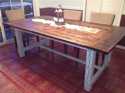 custom farm tables made reclaimed wood trestle style farmhouse table by