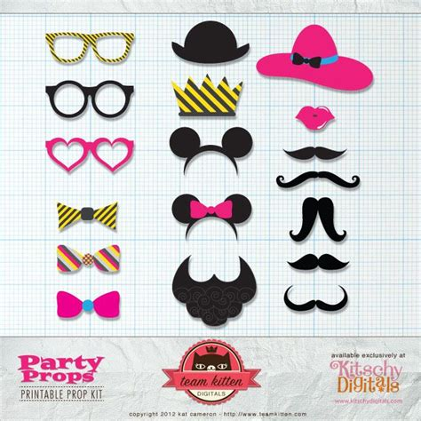 photo booth props printable new calendar template site