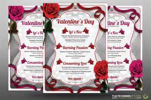 valentines day menu template s day menu flyer template v 8 that s design