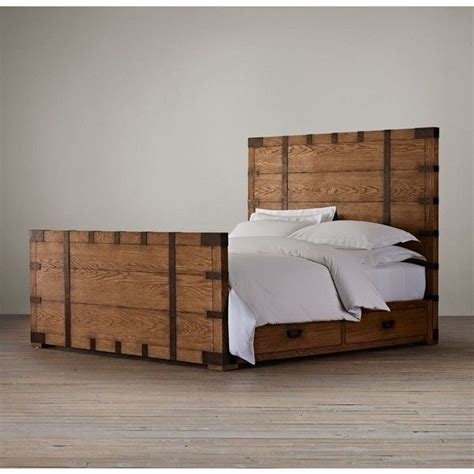 heirloom silver chest platform storage bed with footboard