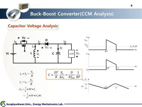 boost converter inductor voltage ppt dc dc converter ii buck boost cuk powerpoint presentation id 1595892