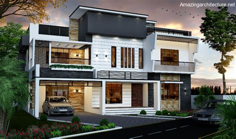 contemporary three storied residential building kerala double storey modern residential house amazing