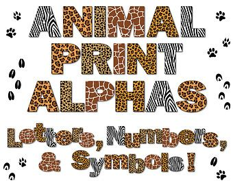 printable safari animal letters zoo alphabet etsy