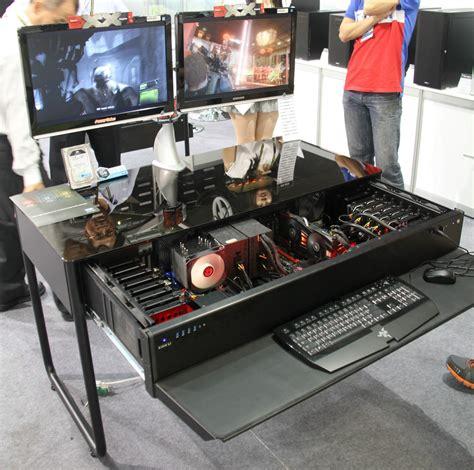 boitier bureau computex les pc bureaux et table basse de lian li